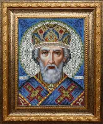 Набор для вышивания иконы Вышиваем бисером L-148 Святой Николай Чудотворец набор для вышивания иконы вышиваем бисером l 68 святой пантелеймон целитель