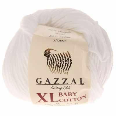 Пряжа GAZZAL Пряжа GAZZAL Baby Cotton XL Цвет.3432XL Белый