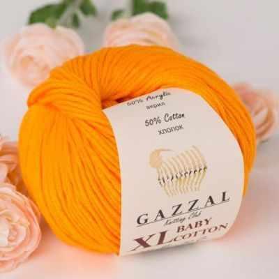 Пряжа GAZZAL Пряжа GAZZAL Baby Cotton XL Цвет.3416XL Оранжевый