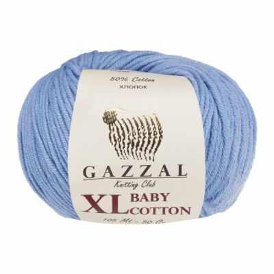 Пряжа GAZZAL Пряжа GAZZAL Baby Cotton XL Цвет.3423XL Голубой