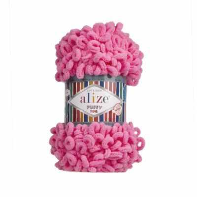 Пряжа Alize Пряжа Alize Puffy Fine Цвет.121 Розовый