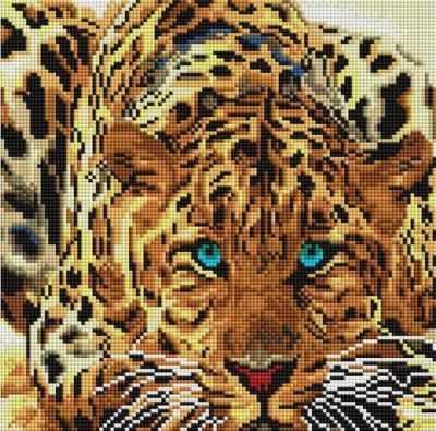 Алмазная мозаика Белоснежка Алмазная вышивка 088-ST-S Леопард