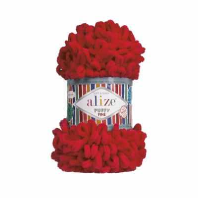 Пряжа Alize Пряжа Alize Puffy Fine Цвет.056 Красный