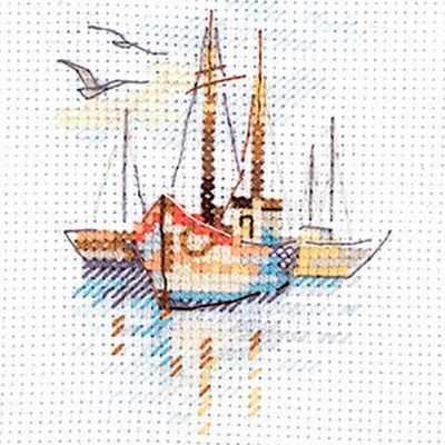 0-196 Лодки на рассвете