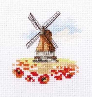 Набор для вышивания Алиса 0-197 Мельница в маковом поле