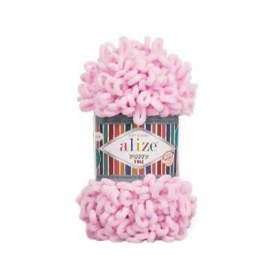 Пряжа Alize Пряжа Alize Puffy Fine Цвет.194 Розовая пудра