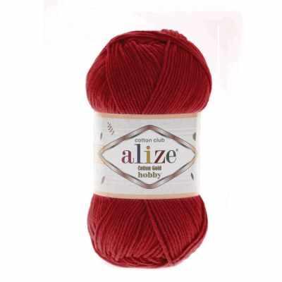 Пряжа Alize Пряжа Alize Cotton Gold Hobby Цвет.56 Красный
