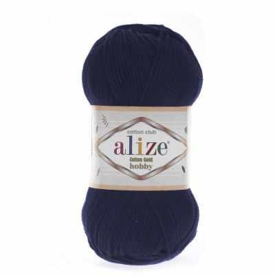 Пряжа Alize Пряжа Alize Cotton Gold Hobby Цвет.58 темно-синий