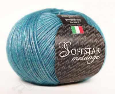 Пряжа Seam Пряжа Seam Soffstar Melange Цвет.2858 бир.голубой