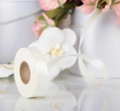 Ленты для упаковки подарков - 3920964 Лента для декора и подарков молочная, 2 см х 45 м
