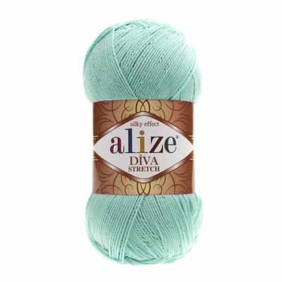 Пряжа Alize Пряжа Alize DIVA STRETCH Цвет.376 Св. бирюза