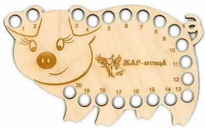 Каталог МП Студия ОР-019 Органайзер для ниток Свинка (МП Студия)