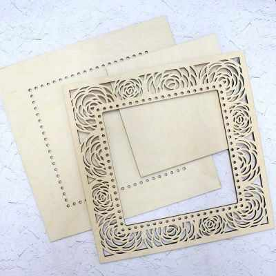 Заготовка для творчества МП Студия ОР-028 Рамка квадратная ажурная Розы малая (МП Студия)