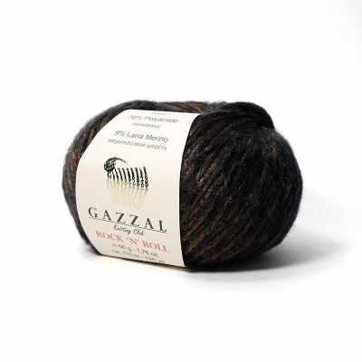 Пряжа GAZZAL Rock n Roll Цвет. 13907 Темно-коричневая