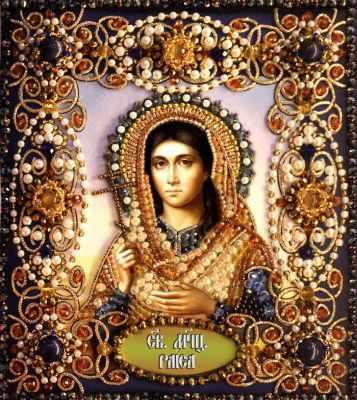 Набор для вышивания иконы Образа в каменьях 77-и-25 Святая Раиса