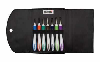 Инструмент для вязания ADDI 640-2 Набор крючков для вязания инструмент для вязания 1215370 набор приспособлений для изготовления помпонов микс