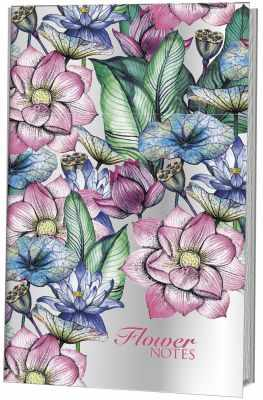 Книга Контэнт Блокнот-голограмма Flower Notes - розовый