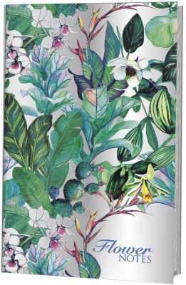Книга Контэнт Блокнот-голограмма Flower Notes - синий