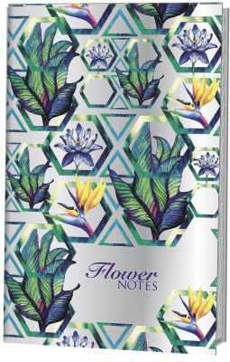 Книга Контэнт Блокнот-голограмма Flower Notes - фиолетовый