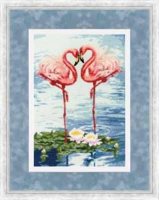 Набор для вышивания Золотое Руно З-051 Свидание фламинго