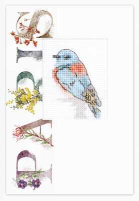 Набор для вышивания Luca-S (S)P-100 Набор для изготовления открытки