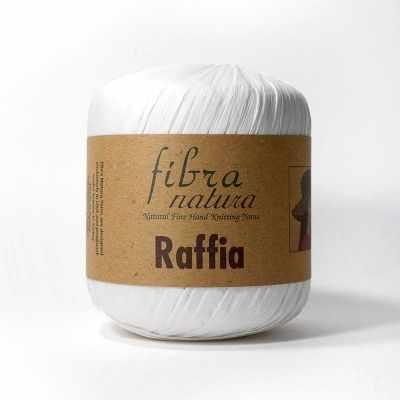 Пряжа Fibra Natura Пряжа Fibra Natura Raffia Цвет.116-01 Белый