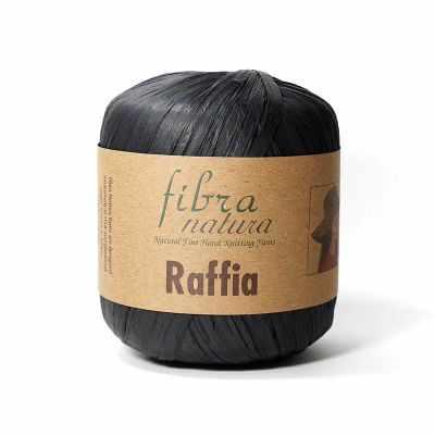 Пряжа Fibra Natura Пряжа Fibra Natura Raffia Цвет.116-12 Чёрный