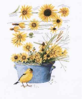 Набор для вышивания Lanarte PN-0172914 Helianthus sunflowers