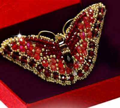 Набор для вышивания иконы Образа в каменьях 77-Б-06 Брошь Бабочка Скарлет