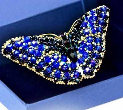 Набор для вышивания иконы Образа в каменьях 77-Б-12 Брошь Бабочка Сапфир