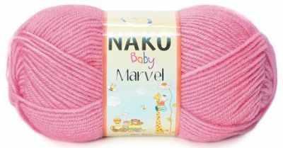 Пряжа Nako Пряжа Nako Bambino Marvel Цвет.9009 Розовый