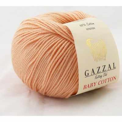 Пряжа GAZZAL Baby Cotton Gazzal Цвет.3412 Персик