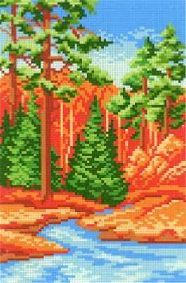Фото - Основа для вышивания с нанесённым рисунком МП Студия СК-041 Лесная речка - схема для вышивания (М.П. Студия) основа для вышивания с нанесённым рисунком мп студия ск 061 лесная находка мп студия