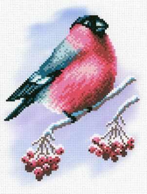 Основа для вышивания с нанесённым рисунком МП Студия СК-028 Румяная пташка - схема для вышивания (М.П. Студия) ранняя пташка