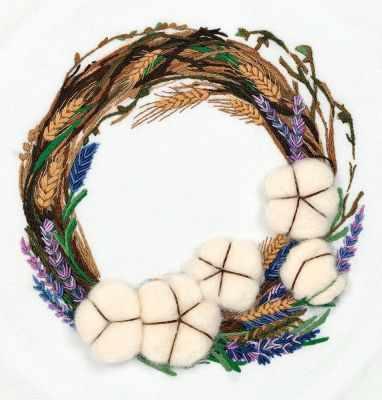 Фото - Набор для вышивания Panna JK-2170 Венок с хлопком набор для вышивания panna ps 1615 осенний венок