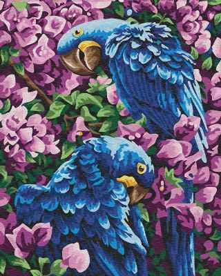 Набор для рисования по номерам Цветной gx22309 «Гиацинтовые ара»