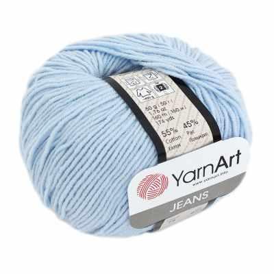 Пряжа YarnArt Пряжа YarnArt Jeans Plus Цвет.75 Бледно голубой