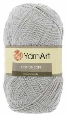 Пряжа YarnArt Пряжа YarnArt Cotton Soft Цвет.49 Светло серый