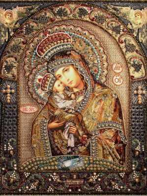 Набор для вышивания иконы Образа в каменьях 7751 Икона Почаевской Божией Матери