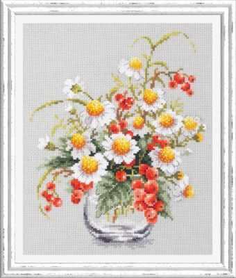 Набор для вышивания Чудесная игла 100-012 Ромашки и смородина 1872 романтик чудесная игла чудесная игла