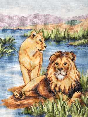 Набор для вышивания Anchor PCE964 Львы
