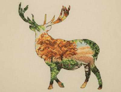 Набор для вышивания MAIA 5678-5043 Силуэт оленя