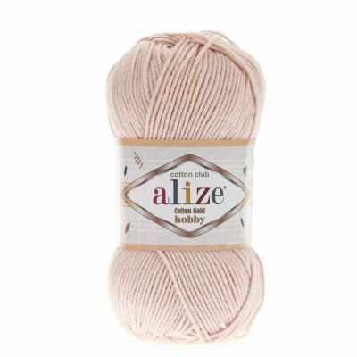 Пряжа Alize Пряжа Alize Cotton Gold Hobby Цвет.382 Телесный