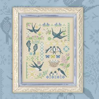 Схема для вышивания OwlForest 0047-Л-С Ласточки - схема для вышивания (OwlForest)