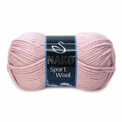 Пряжа Nako Пряжа Nako Sport Wool Цвет.10639 Грязно-розовый