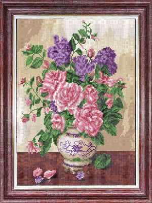 Основа для вышивания с нанесённым рисунком Каролинка кбц 3047 Запах роз - схема (Каролинка) - схема для вышивания (Каролинка)