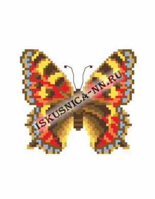 Набор для вышивания Искусница м8194 Бабочка крапивница