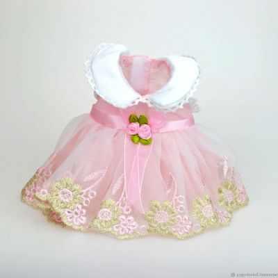 Заготовки и материалы для изготовления игрушки Pugovka Doll Платье кукол (розовое), 35 см