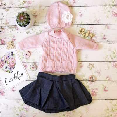 Заготовки и материалы для изготовления игрушки Pugovka Doll Набор одежды Маша, юбка+свитер+шапка