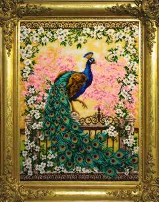 Набор для вышивания Золотые ручки Ж-015 Великолепный павлин